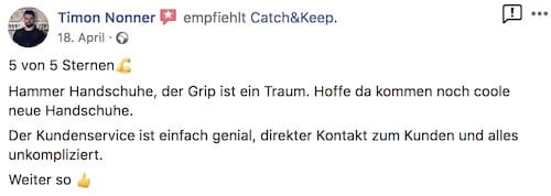 Catch and Keep Kundenstimme Empfehlung 1