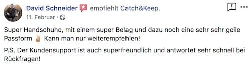 Catch and Keep Kundenstimme Empfehlung 2