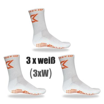 Grip Socken Bundle weiß Catch and Keep