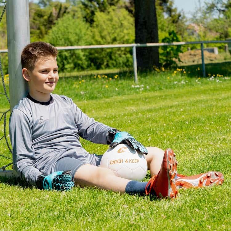 Kralle_Junior_Pro_3.0_Blau_Catch_and_Keep_Kinder_Handschuhe_Fussball